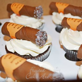 Birthday Cake - Cigar Cupcake - Bakery