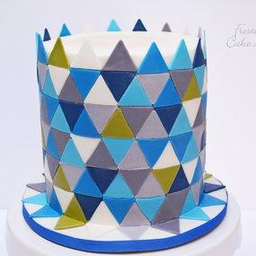 Wedding Cake - Geometric Cake - Birthday Cake- Custom Cake