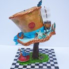 Custom Cake-Mad Hatter Cake-Competition Cake - Wedding Cake