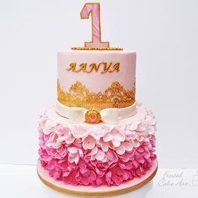 Birthday Cake-Ruffle Cake
