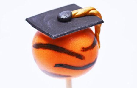 CF Tigers graduation cake pop