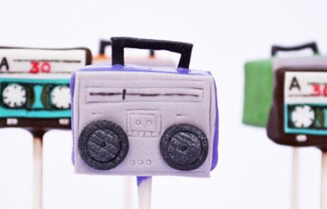 90s stereo cake pops