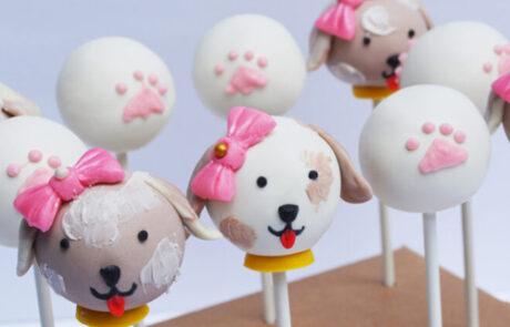 Dog Puppy cake pop